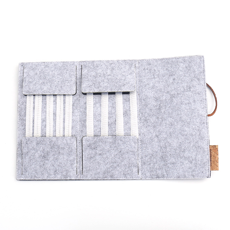 Felt Makeup Brush Storage Pouch Eyebrow Pencil Eyeliner Bag