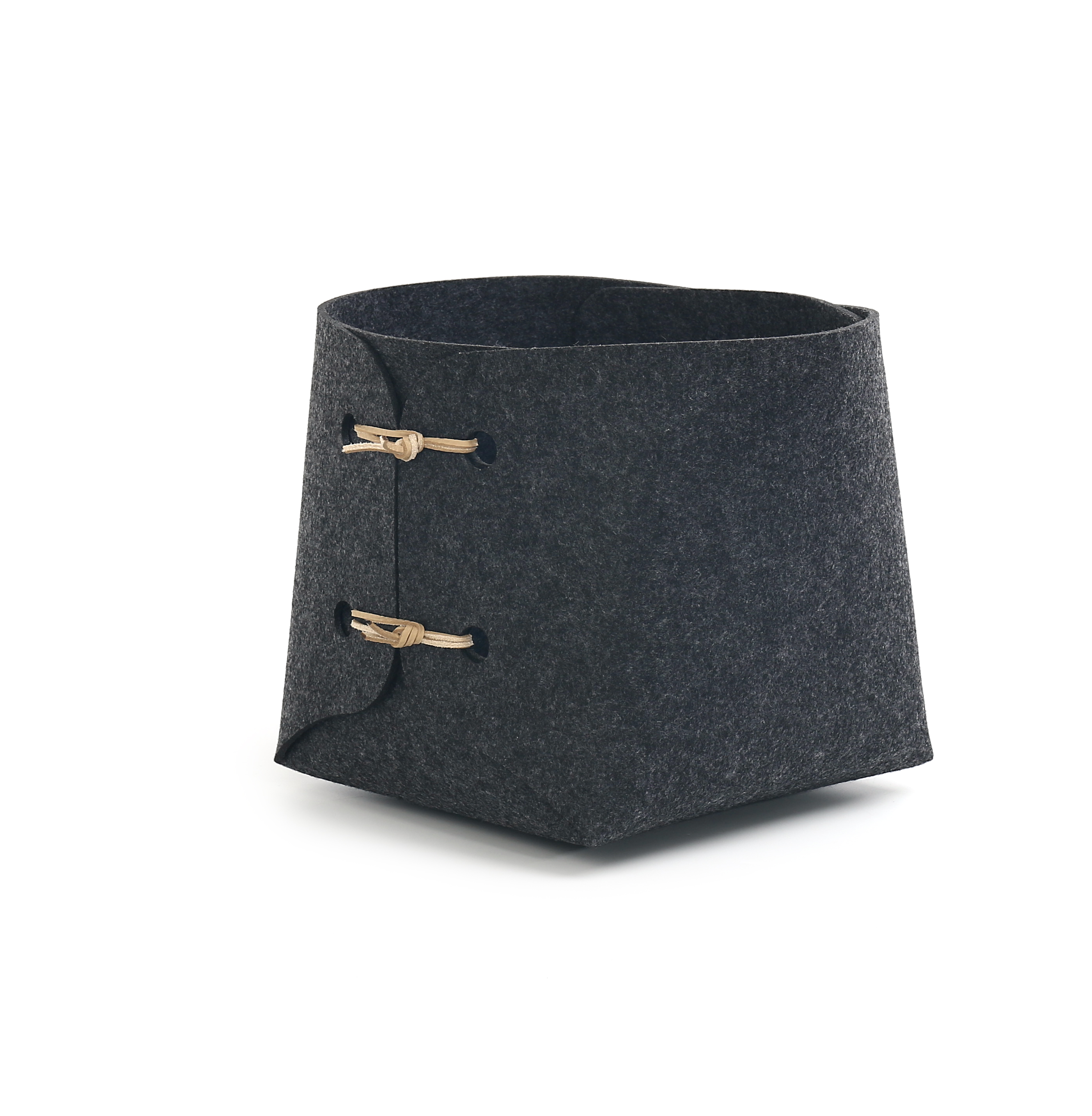 Felt Leather Cord Buckle Table Storage Case