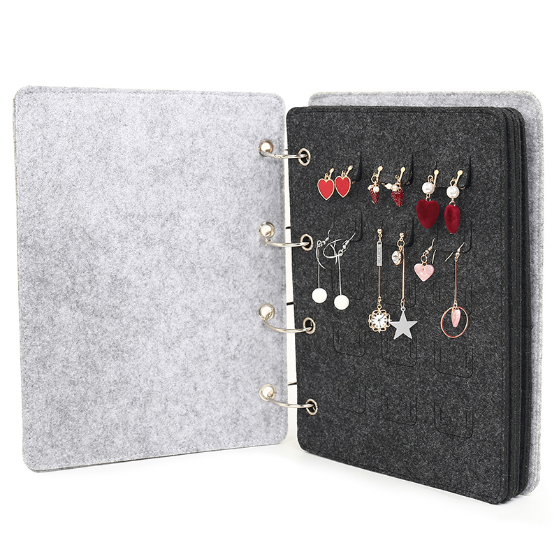 Felt Jewelry Organizer Book Rack Jewellery Collection Book Organizer Necklace Display